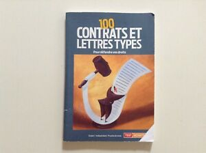 """Livre juridique droit """"100 contrats et lettres types"""""""