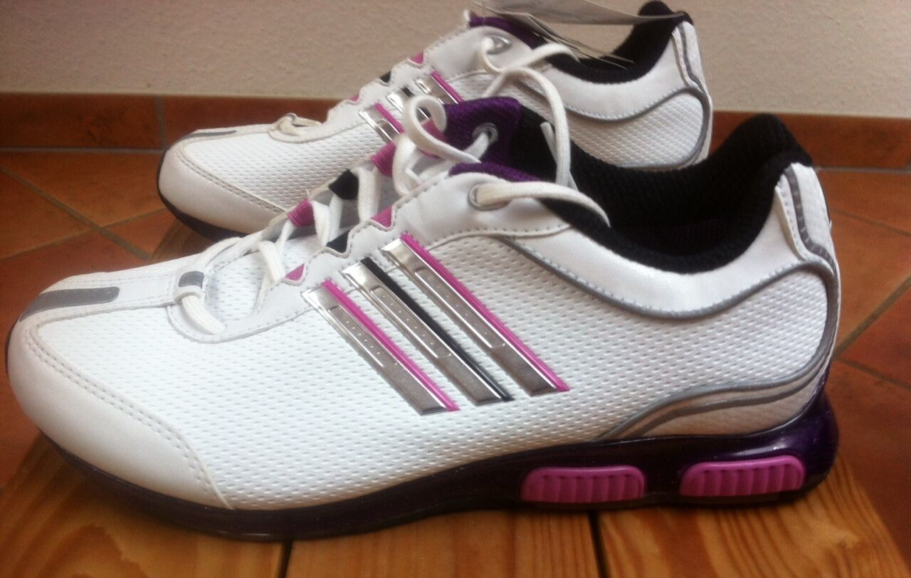RARE ADIDAS XLAB CHANGE FULL J RUNNING TRAINERS SIZE 5 US WHITE & PINK