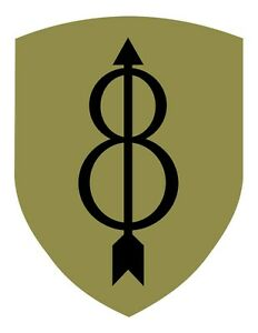25th Infantry Division Vinyl Window Decal//Sticker Black//Olive