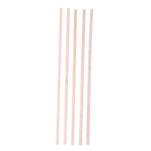 5 pcs 6 250mm bâtons artisanaux tige ronde balsa bois bar hobby modèle