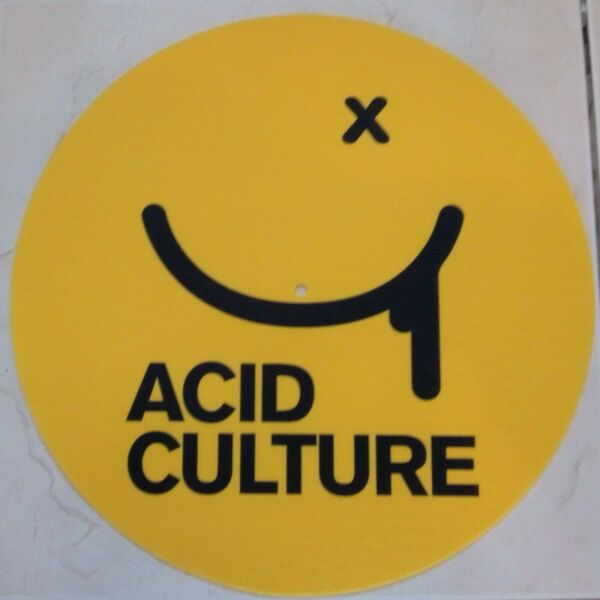 "1 Pair Acid Culture 12"" Dj Turntable Slipmats"