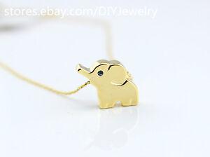 14k-Gold-Plated-Elephant-Necklace-Animal-Lucky-Elephant-Jewelry-Everyday-Wearing