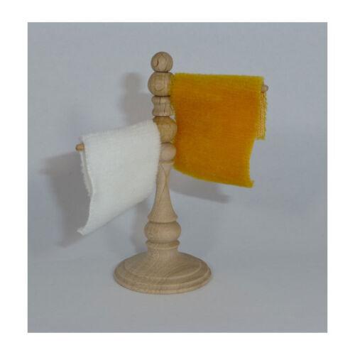 Amour MAIN 46142 serviette support avec 2 serviettes 1:12 Maison de poupée NOUVEAU #