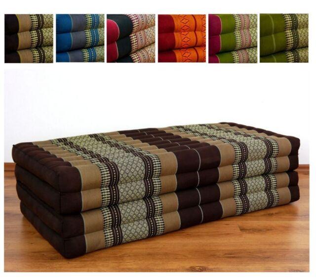Folding Mattress 100 Natural Kapok Filling Bed Foldable Cushion Relaxation Xxl