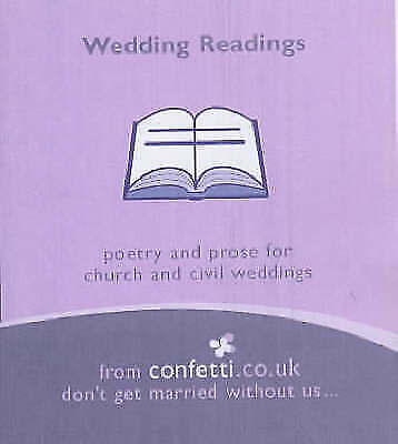 1 of 1 - Wedding Readings: Poetry and Prose for Church and Civil W..., Confetti Paperback