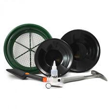 Asr Outdoor 9 Piece Complete Gold Panning Kit Classifier Sifter Hammer Vials