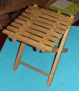 Chaise-Ancienne-Pliante-Enfant-Bois-Deco-Vintage-scout-Scoutisme-camping-peche