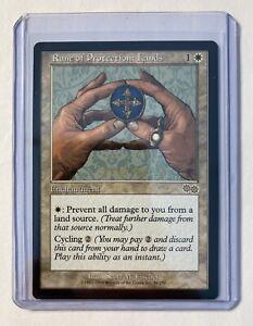 Magic The Gathering✨ RUNE OF PROTECTION: LANDS✨Urza's Saga NM/M RARE 1998 MTG NP