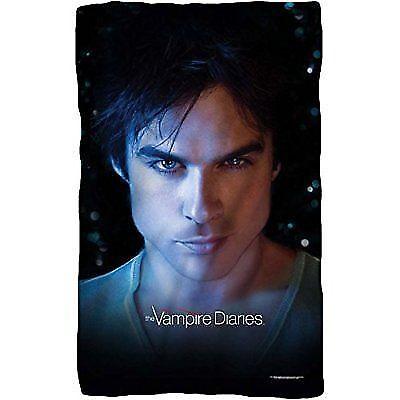 Vampire Diaries Damon Eyes Fleece Throw Blanket White Günstig Kaufen