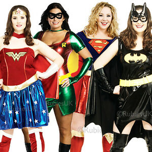 Superhero-Plus-Size-UK-16-20-Ladies-Fancy-Dress-Comic-Character-Womens-Costume