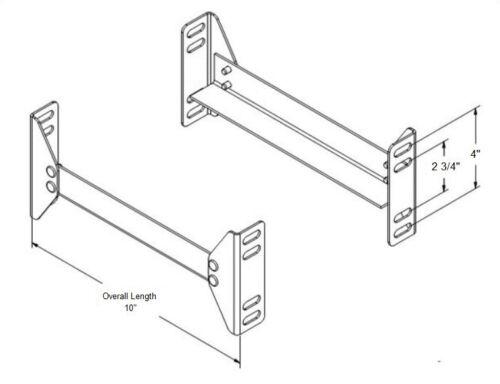 Bolt On Short Steel Headboard//Footboard Bed Frame Retail Display Rails