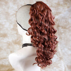 Wiwigs Lovely Copper Red Irish Dance Curly Ponytail Claw