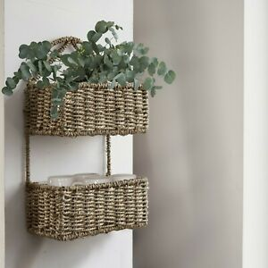 Wall Hanging Storage Basket 2 Tiers