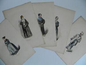 XIX Serie Porträt Gravur Buntes Paket Im Besitz Von Pauquet Monnier Verdeil