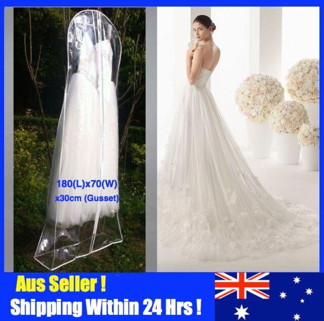 Large Wedding Dress Clothes Bridal Gown Garment Dustproof Storage Bag Cover