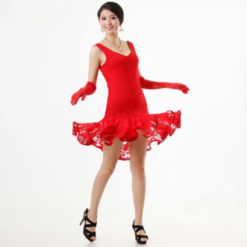 NEW Latin Ballroom Dance Dress Modern Salsa Cha cha tango Dance Dress#N012