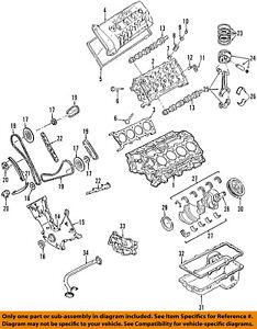 ford oem 07 14 mustang engine connecting rod bearing 4g7z6211aa ebay rh ebay com pushrod engine diagram