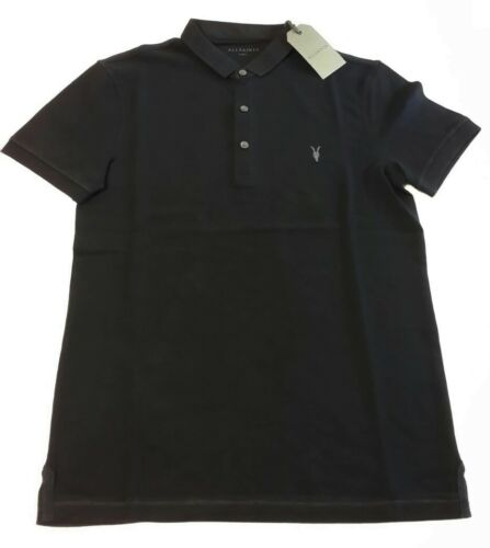M S XXL L XL ALLSAINTS INK NAVY REFORM POLO T-SHIRT TOP
