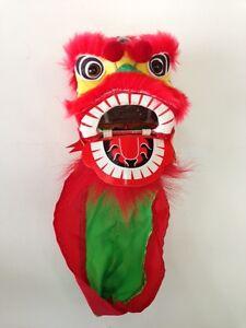 "4"" MINI CHINESE NEW YEAR LION DRAGON HEAD DANCE DECORATION ..."