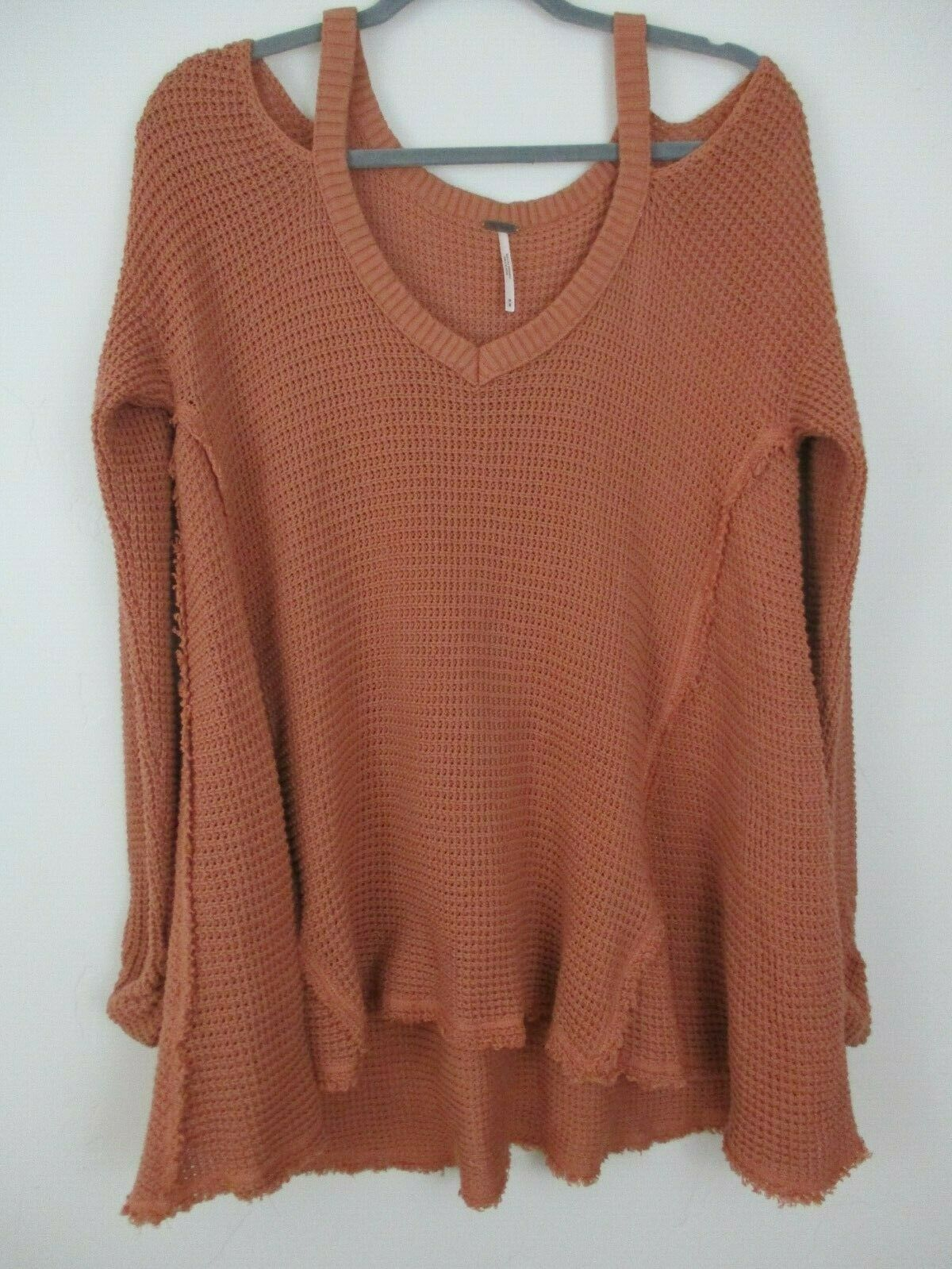 Free People M Women's cold shoulder sweater over sized