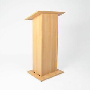 Flat Pack Wooden Lectern Church Pulpit Conference Reading Platform Uk Ebay