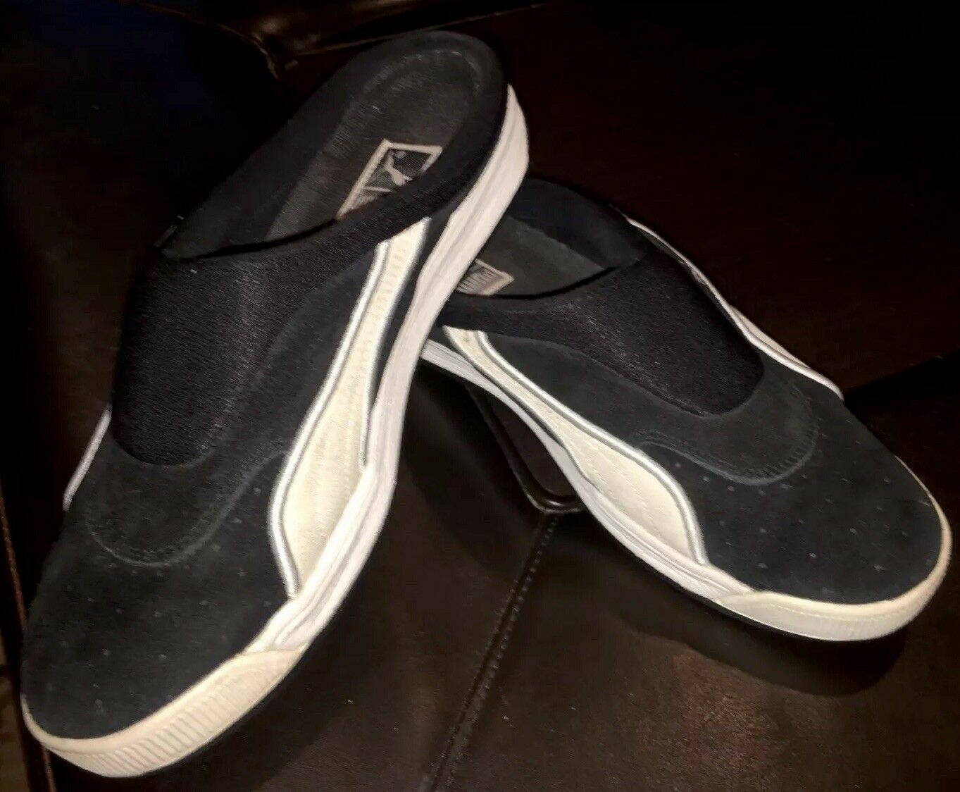 Puma Clyde Slides Sandals Rare Vintage Black Size 10