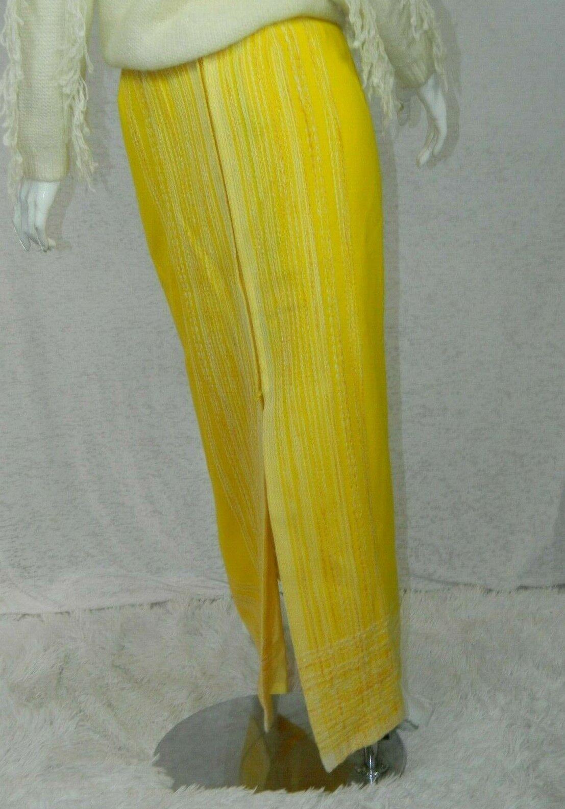 Vintage Arola Finland Skirt Yellow White Wool 70s… - image 2