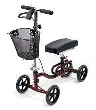 Knee Scooter Walker Foldable Leg Crutch Brakes Karman KW-100-BD Burgundy NEW