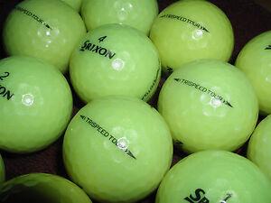 12 near Comme neuf AAAA Srixon Jaune Trispeed Tour utilisé des balles de golf... Free ship!-afficher le titre d`origine JCIljisZ-07143614-262320105