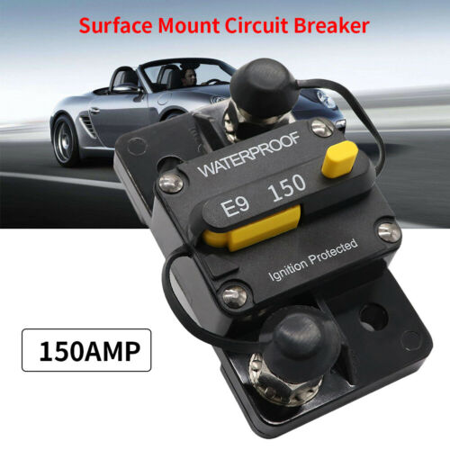 Manual Reset Circuit Breaker Waterproof DC12V 24V Fuse Reset  30~150A Car Marine