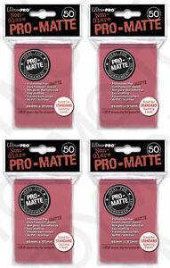 200-4pk-ULTRA-PRO-Pro-Matte-Deck-Protector-Card-Sleeves-Magic-Standard-Fuchsia
