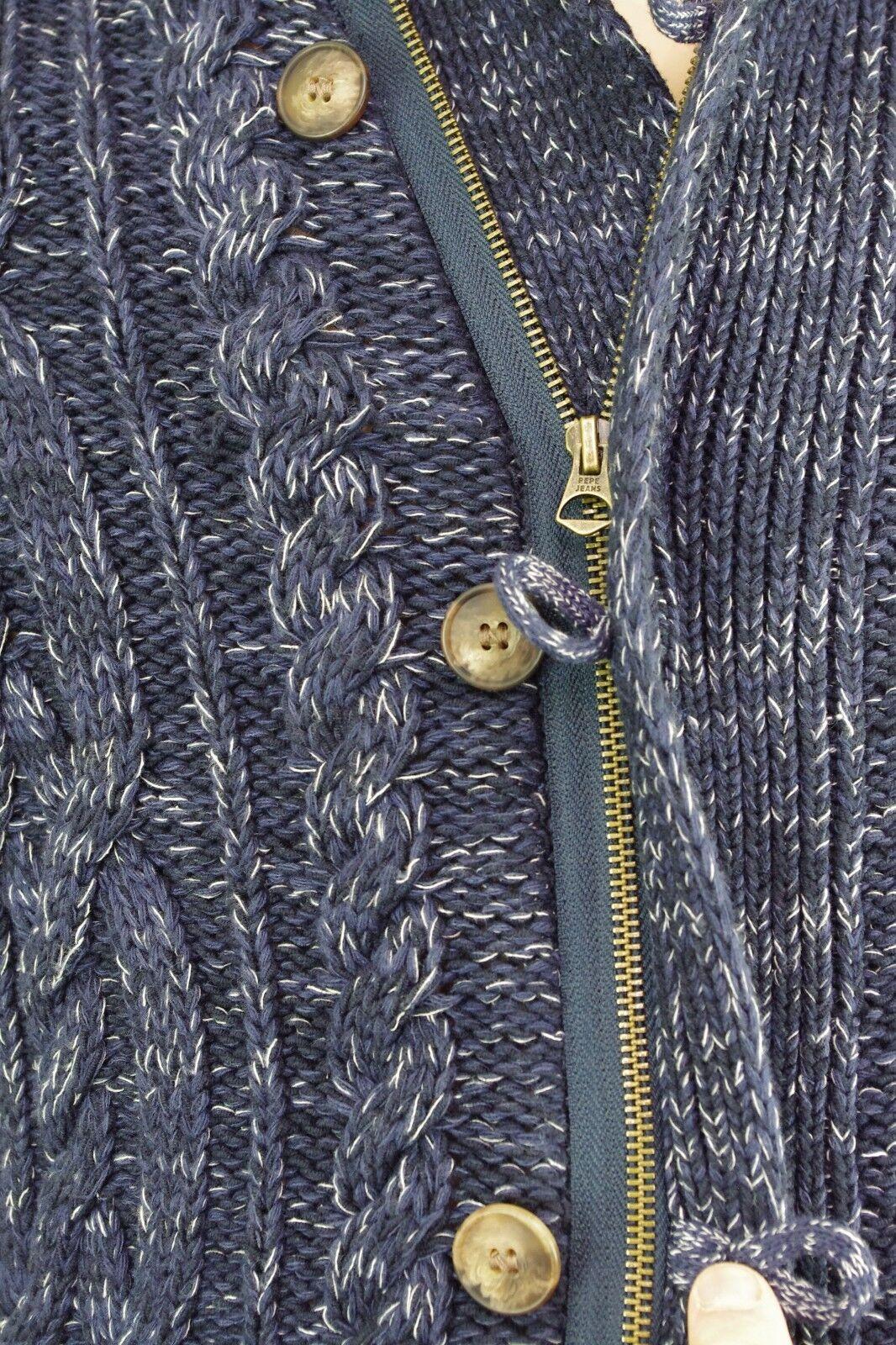 1d4162f76de PEPE JEANS gilet cardigan homme bleu chiné CLARK BLUE PM701328 ...