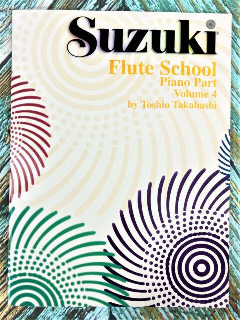 New! SUZUKI Flute School PIANO PART VOLUME 4 Toshio Takahashi Revised Book 0172S