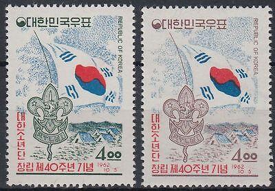 GroßZüGig Korea-süd 1962 ** Mi.363/64 Pfadfinder Scouts Scouting Flagge Flag Asien st0842