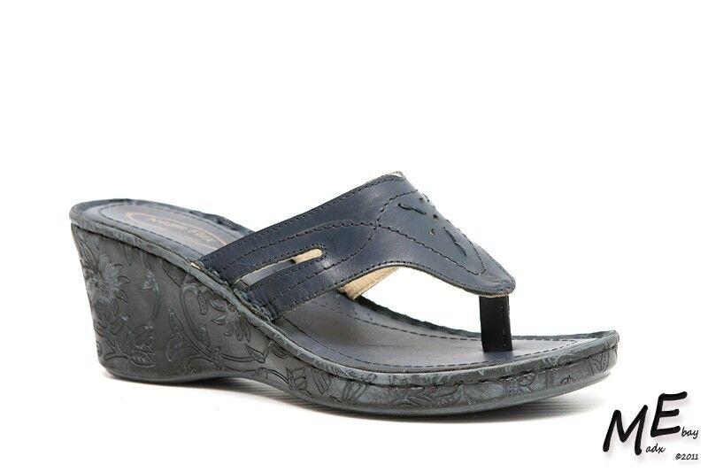 Nuevo Sandalias De Cuero Napa Flex Malibu para Mujer