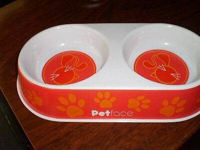 """10"""" X 5"""".new Pure And Mild Flavor Cat Supplies Persevering Petface Melamine Cat Bowl Double"""