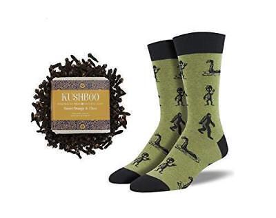 Socks and Soap Men/'s Alien Socks With Orange and Clove Cleansing Soap Bar
