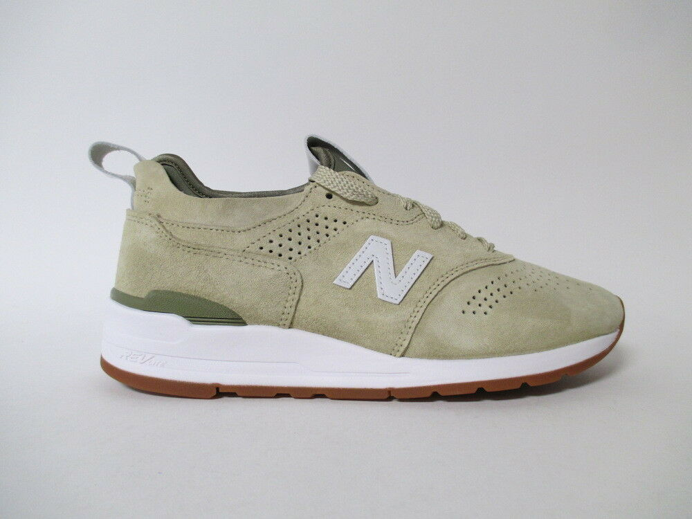 New Balance 997 997 997 Made in USA Sand Tan White Green Sz 9.5 M997DRA2 6556ec
