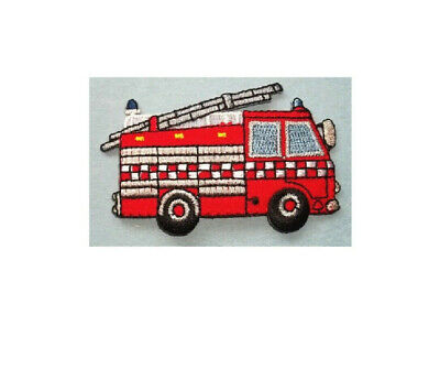 Iron on Fire Truck Applique Patch