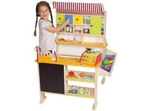 PLAYTIVE® JUNIOR Kaufladen Kinder Kaufmannsladen Spiel Spielzeug Echtholz Laden