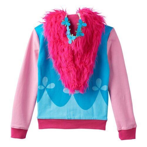 LICENSED AUTHENTIC NWT Trolls Poppy Girl Costume Hoodie Jacket 5 6 8 10 12 14 16