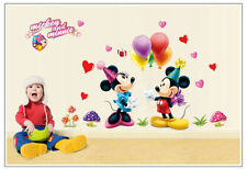 Mickey Mouse Minnie Vinyl Mural Wall Sticker Decals Kids Nursery Room Decor