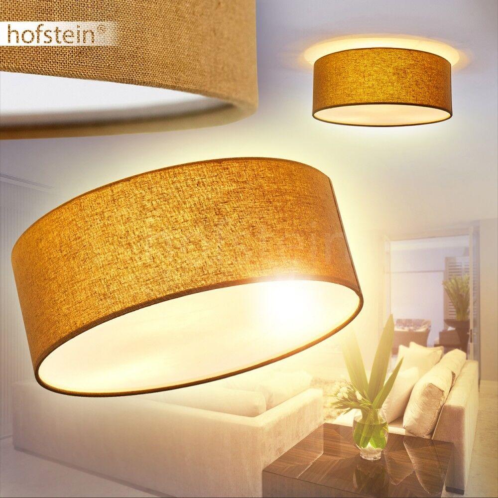 Illuminazione Soffitto Paralume Moderno Tessuto braun Luce Cucina Salotto E14