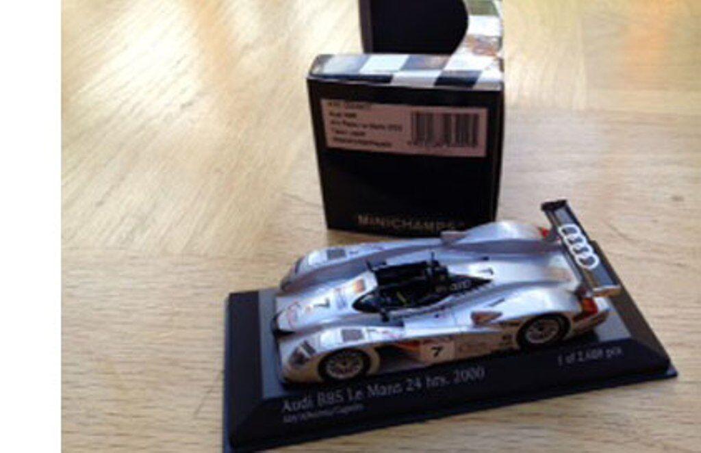 MINICHAMPS 430 000907 Audi R8S model car 3rd place 24hr Le Mans 2000 1 43rd