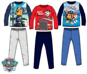 1bc8feaf75 Das Bild wird geladen Paw-Patrol-Pyjama-Schlafanzug-fuer-Jungen-Kinder-Gr-