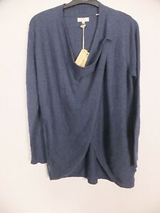 New Women's FatFace Navy Blue Ellie Cardigan With Button Size UK 8