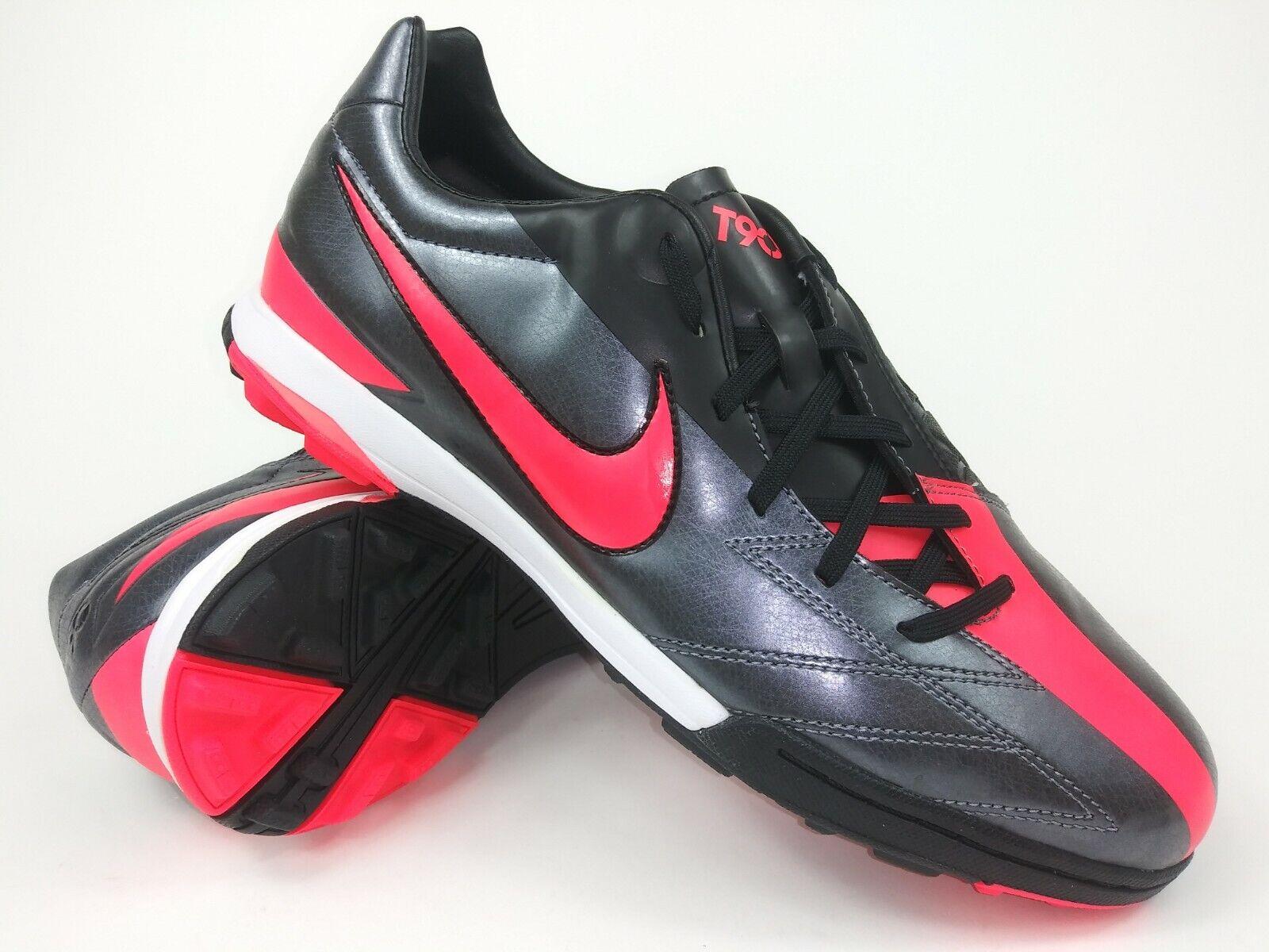 Nike Hombre Rareza T90 Dispara IV Tf 472560-060 gris Rojo Fútbol Zapatos Tacos