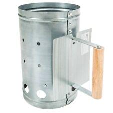 Anzündkamin für Holzkohle Holgriff mit Hitzeschutz zinkfreier Stahl