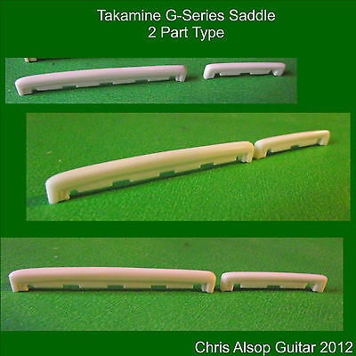 Takamine 2 Part G Series Guitar Saddle in Bone. Carved & Precision Made. PS011