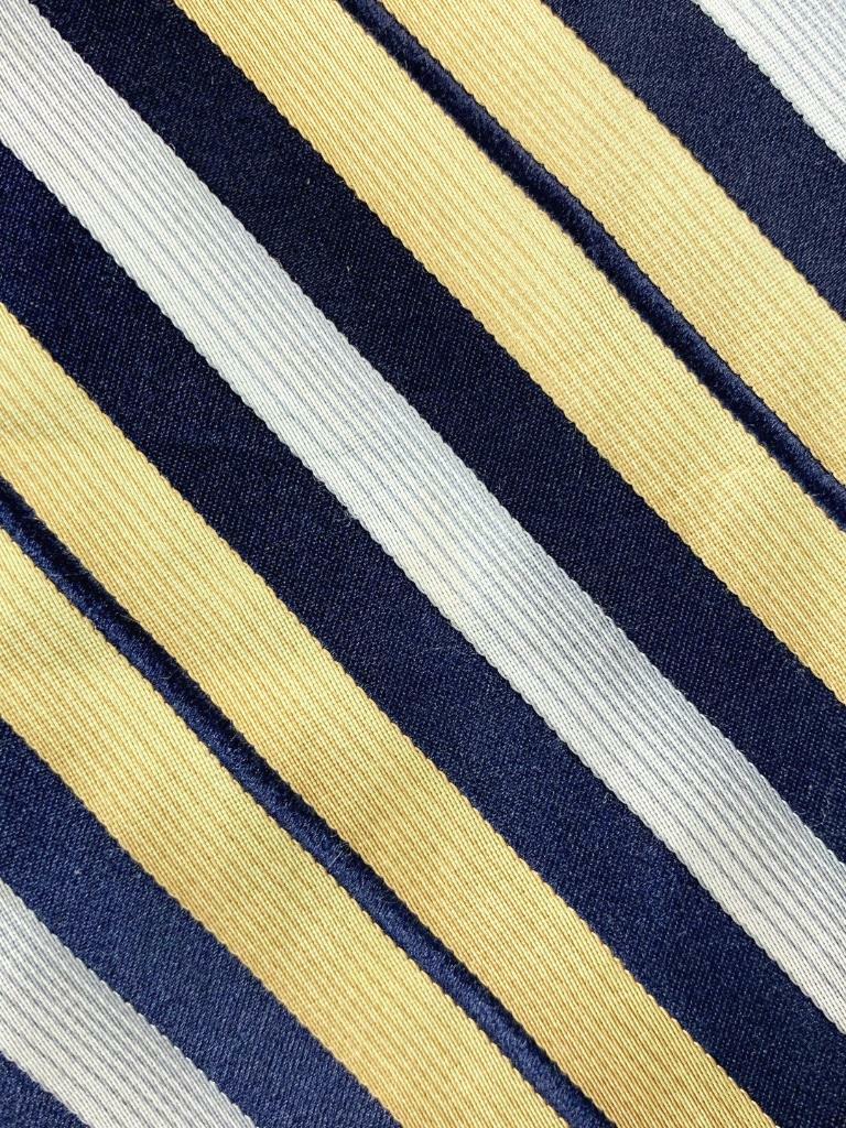 Stafford Gelb Dunkelblau Silber Gestreift Seidenkrawatte Krawatte MAP1221A #R17